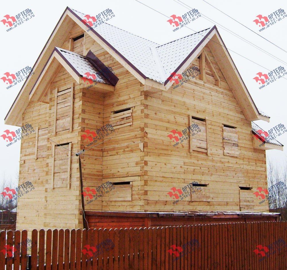 дом из бруса построенный по проекту Вариант 8 П фотография 1782