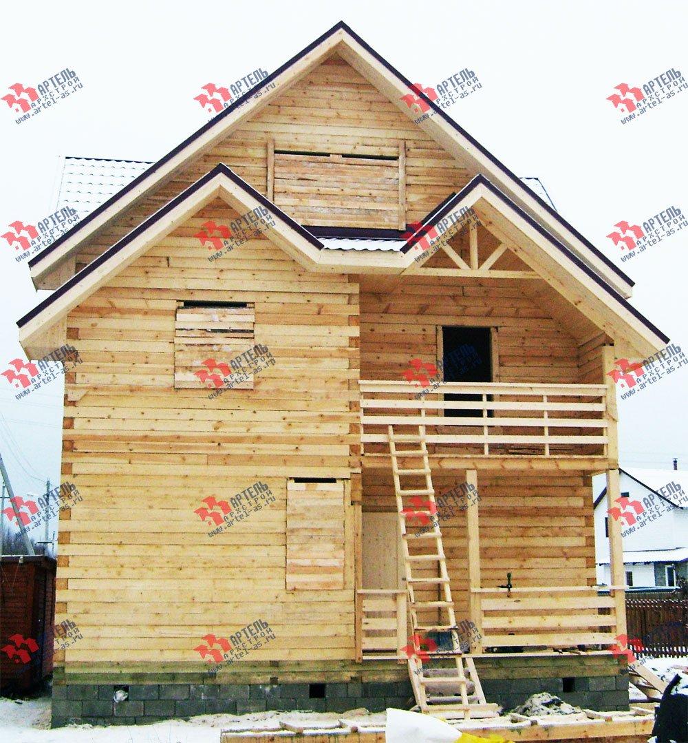 дом из бруса построенный по проекту Вариант 8 П фотография 1783