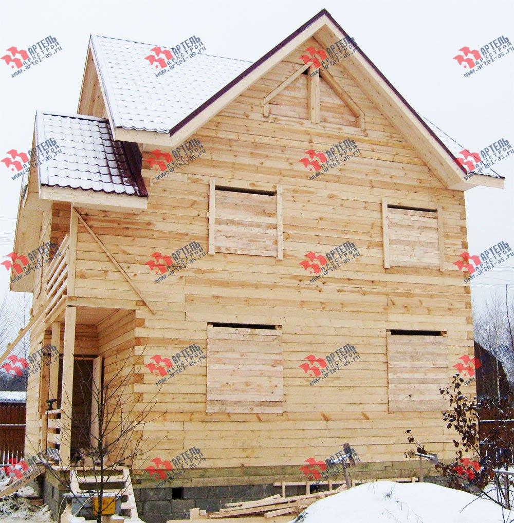 дом из бруса построенный по проекту Вариант 8 П фотография 1784