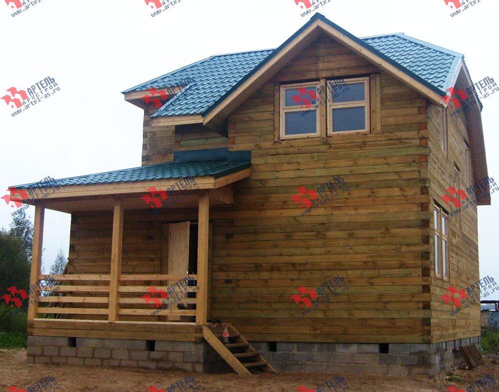 дом из бруса построенный по проекту Вариант 8 Н фотография 1774