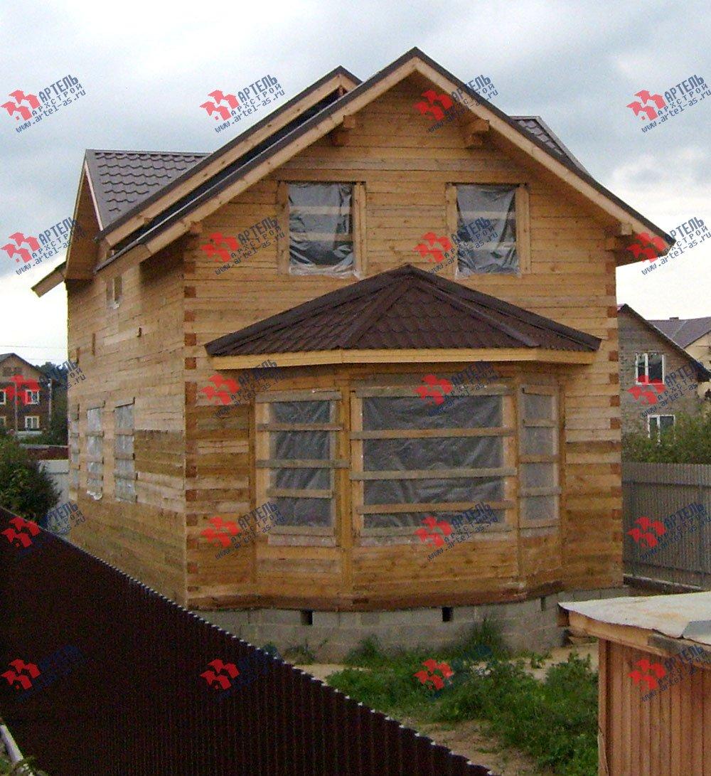 дом из бруса построенный по проекту Вариант 6 О-1 фотография 2283