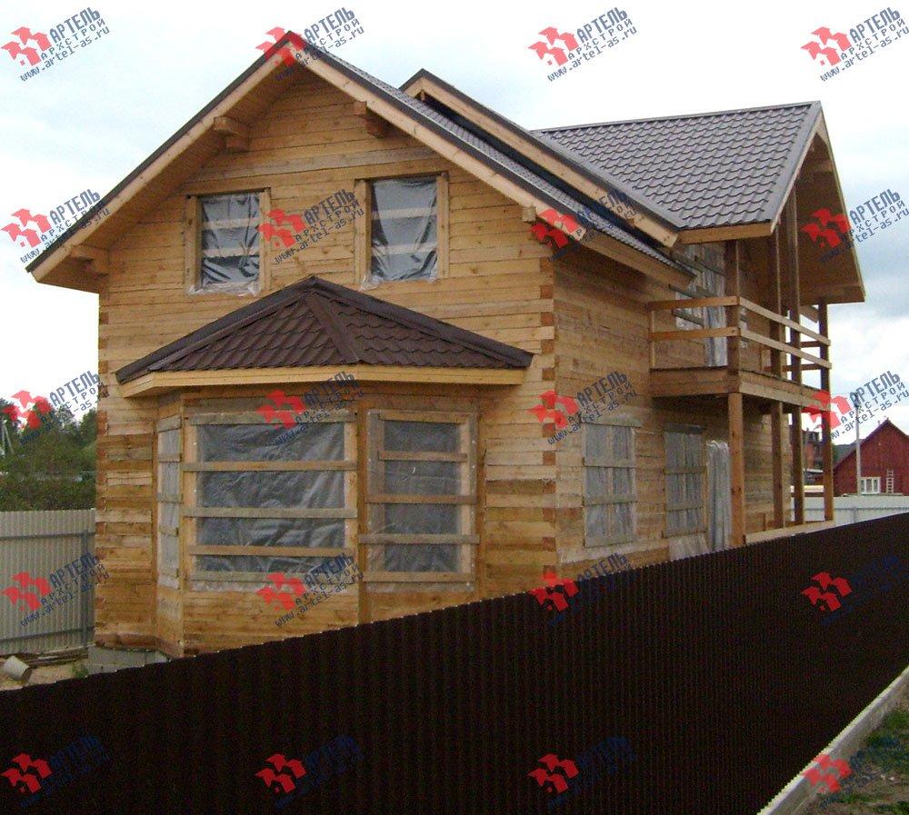 дом из бруса построенный по проекту Вариант 6 О-1 фотография 2284