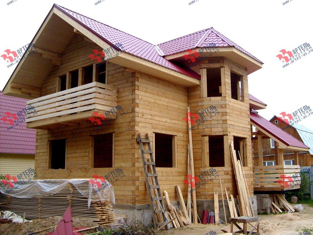 дом из бруса построенный по проекту Вариант 6.2 К фотография 1636