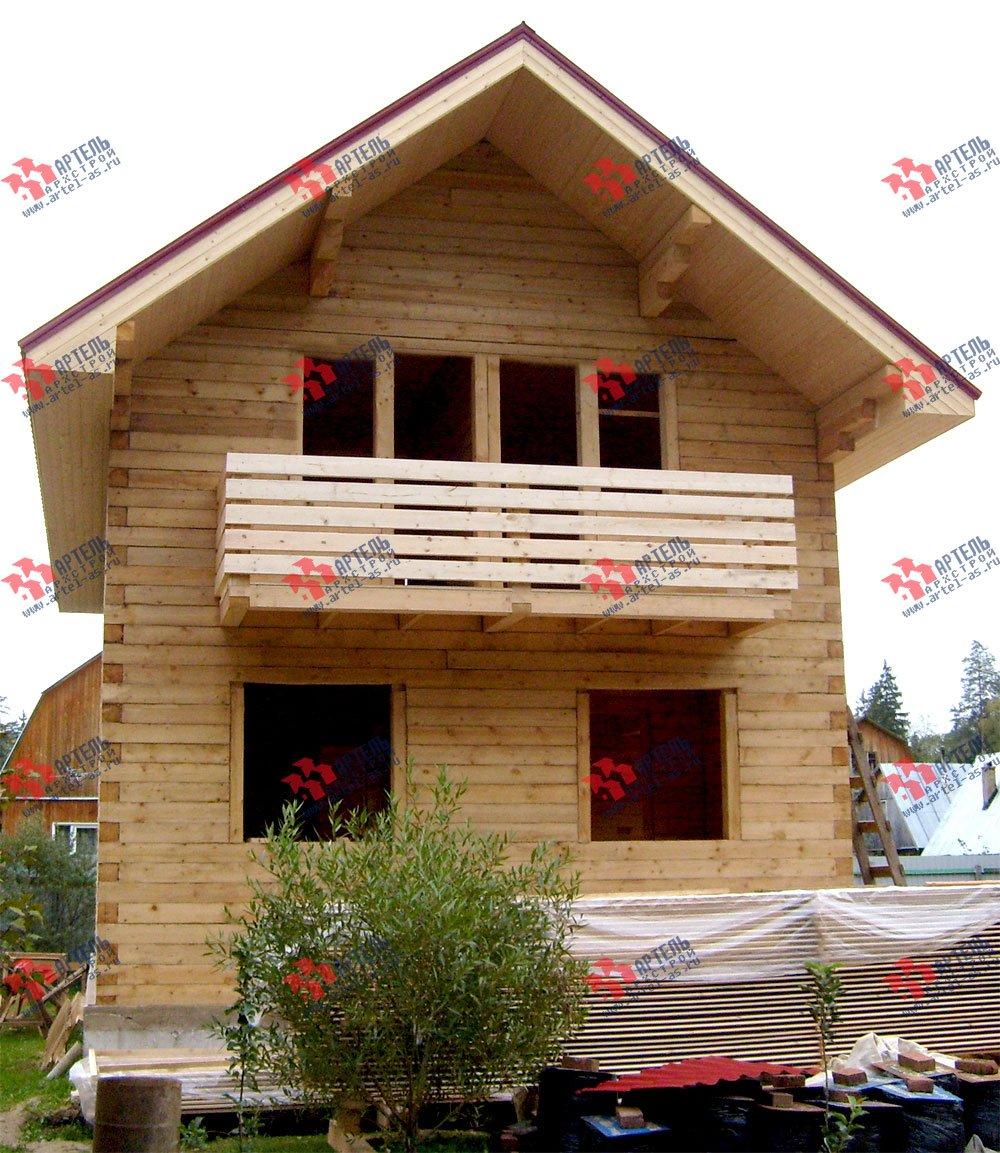 дом из бруса построенный по проекту Вариант 6.2 К фотография 1637