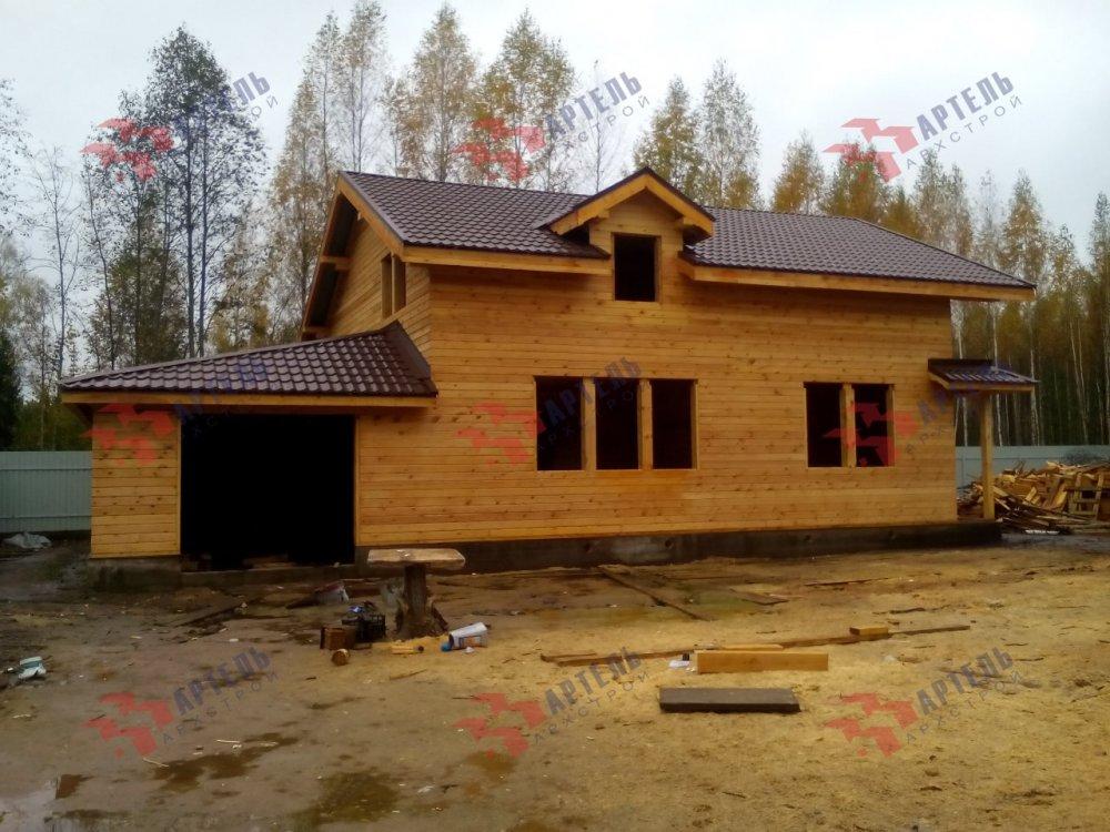 дом из камня построенный по проекту Вариант 26 фотография 5156