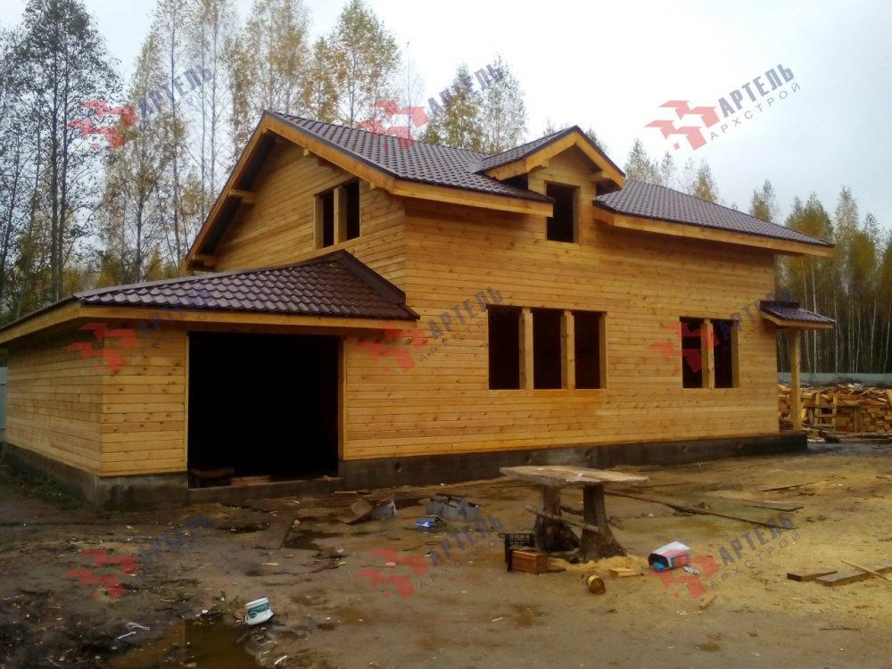 дом из камня построенный по проекту Вариант 26 фотография 5157