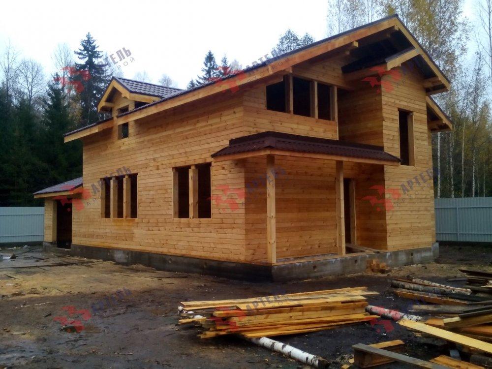 дом из камня построенный по проекту Вариант 26 фотография 5160