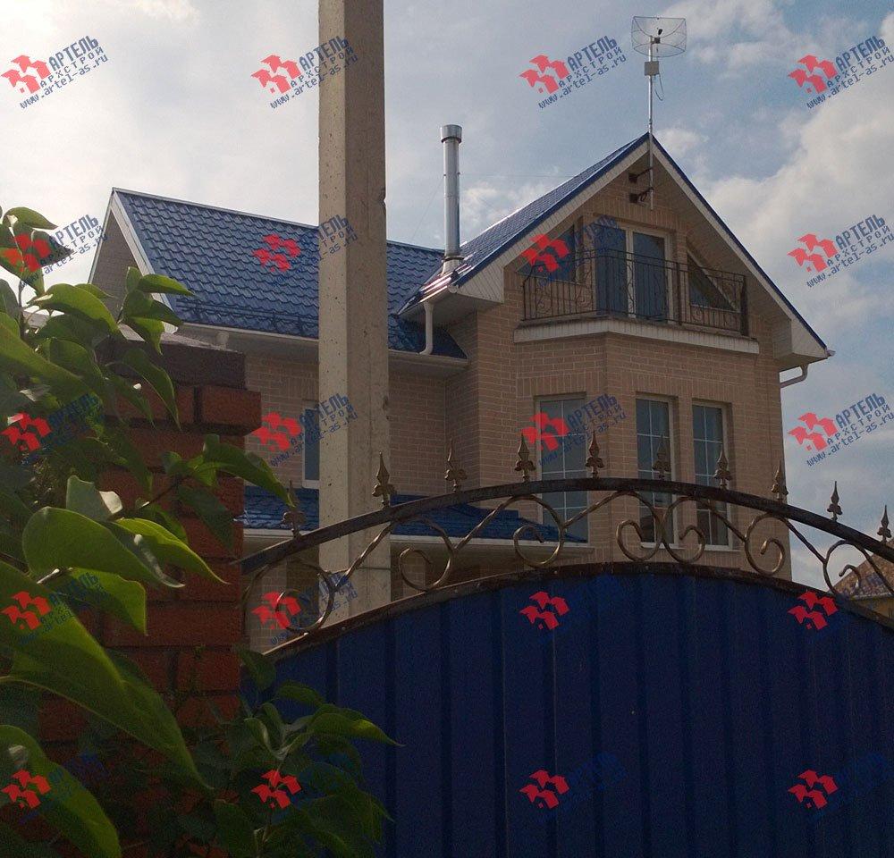 дом из бруса построенный по проекту Вариант 12.3 А фотография 3221