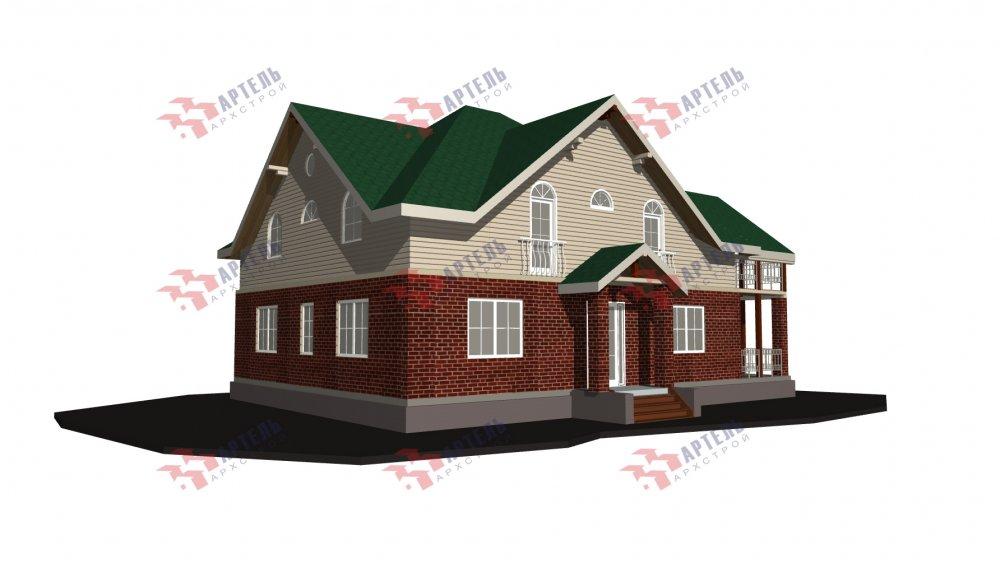 двухэтажный дом омбинированные дома площадью свыше 200 кв. м., проект Вариант 12.8М Камень и Комбинированный фотография 5298