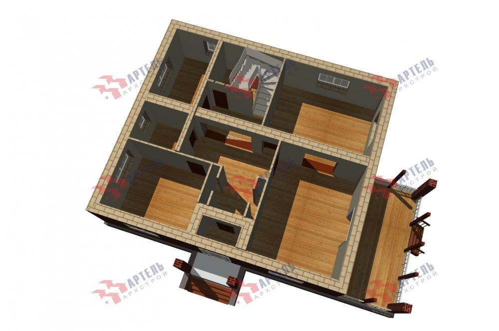 двухэтажный дом омбинированные дома площадью свыше 200 кв. м., проект Вариант 12.8М Камень и Комбинированный фотография 5299
