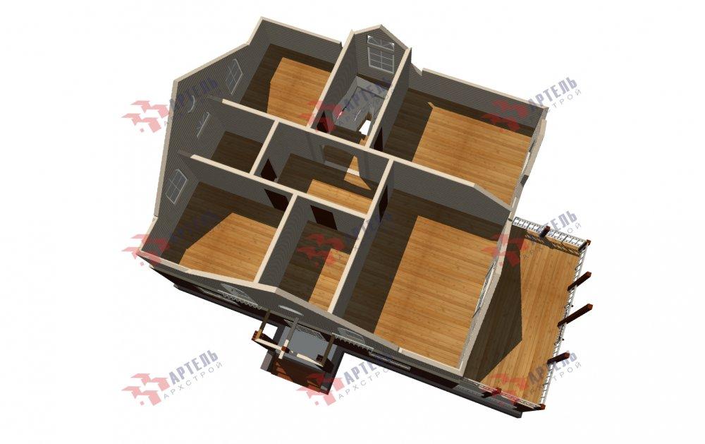 двухэтажный дом омбинированные дома площадью свыше 200 кв. м., проект Вариант 12.8М Камень и Комбинированный фотография 5300