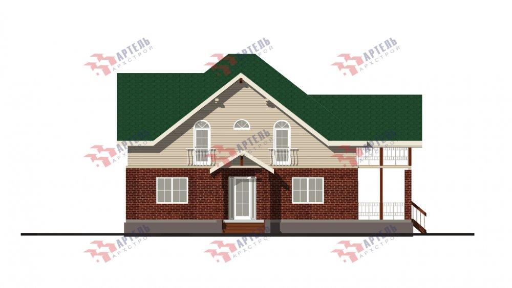 двухэтажный дом омбинированные дома площадью свыше 200 кв. м., проект Вариант 12.8М Камень и Комбинированный фотография 5283