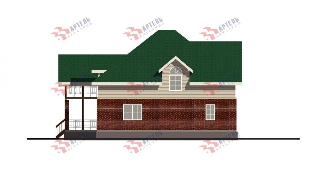 двухэтажный дом омбинированные дома площадью свыше 200 кв. м., проект Вариант 12.8М Камень и Комбинированный фотография 5302
