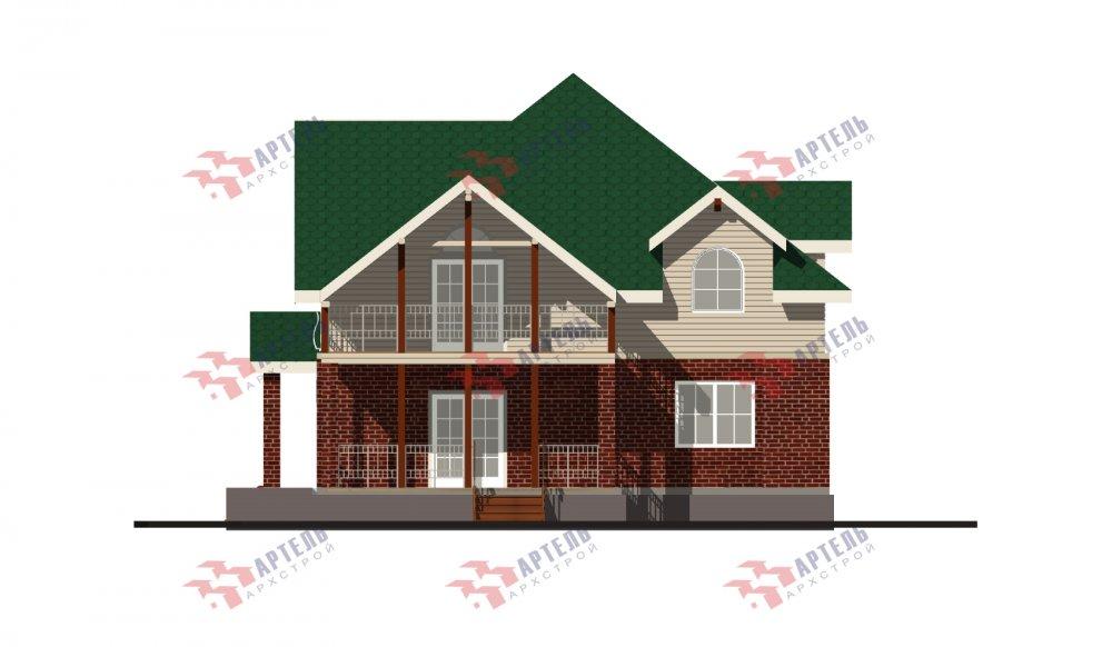 двухэтажный дом омбинированные дома площадью свыше 200 кв. м., проект Вариант 12.8М Камень и Комбинированный фотография 5303