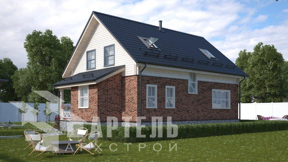 двухэтажный дом омбинированные дома площадью от 150 до 200 кв. м., проект Вариант 12.8В Комбинированный фотография 5314