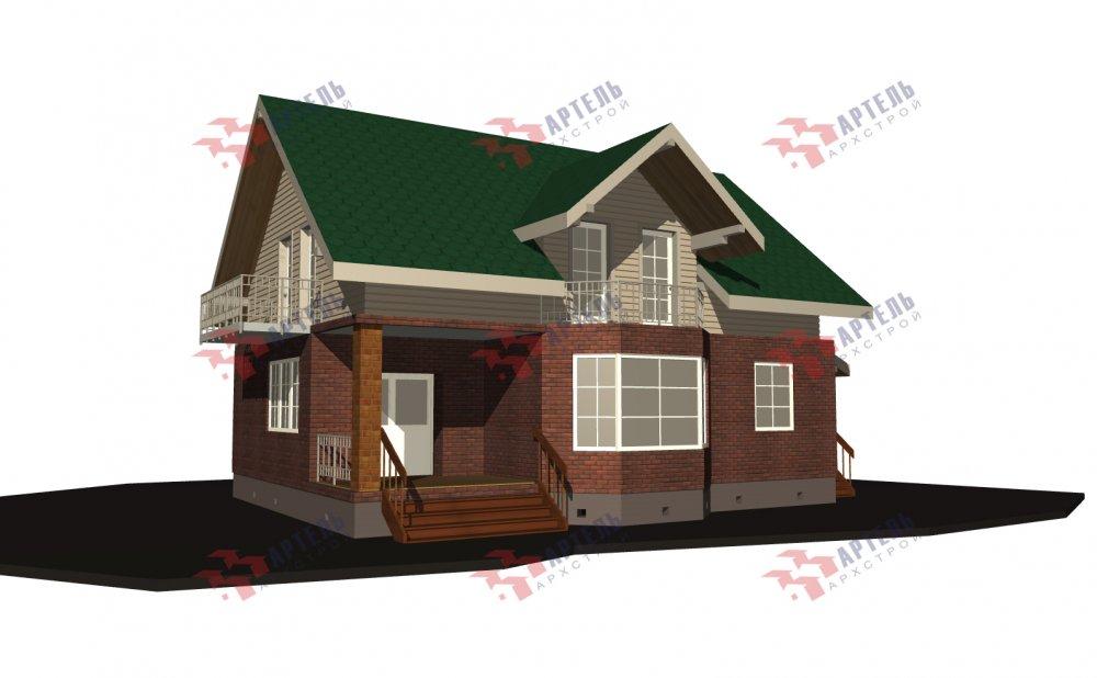 двухэтажный дом омбинированные дома площадью от 150 до 200 кв. м., проект Вариант 12.8В Комбинированный фотография 5318