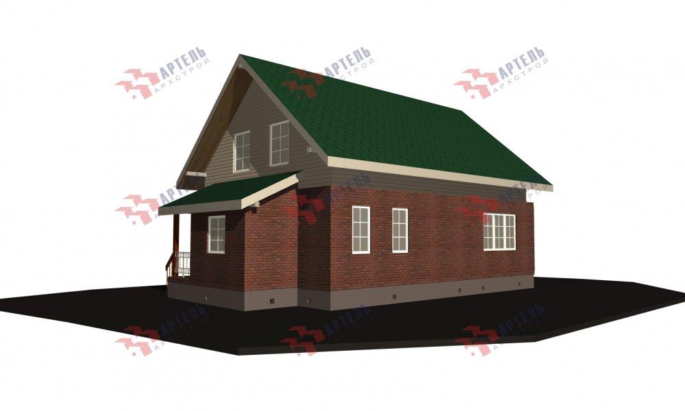 двухэтажный дом омбинированные дома площадью от 150 до 200 кв. м., проект Вариант 12.8В Комбинированный фотография 5319