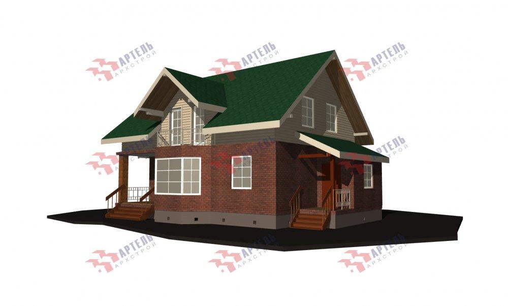 двухэтажный дом омбинированные дома площадью от 150 до 200 кв. м., проект Вариант 12.8В Комбинированный фотография 5320