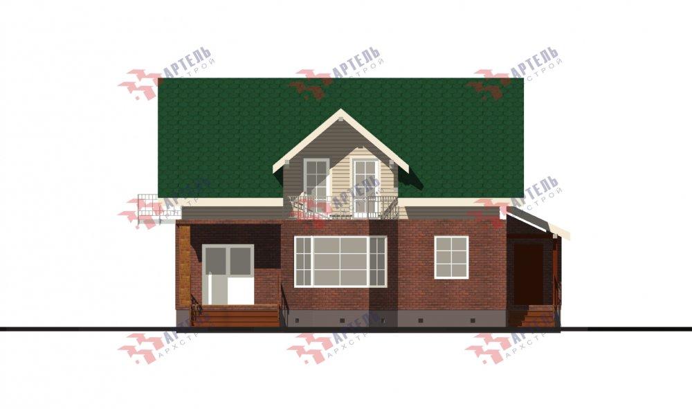двухэтажный дом омбинированные дома площадью от 150 до 200 кв. м., проект Вариант 12.8В Комбинированный фотография 5321