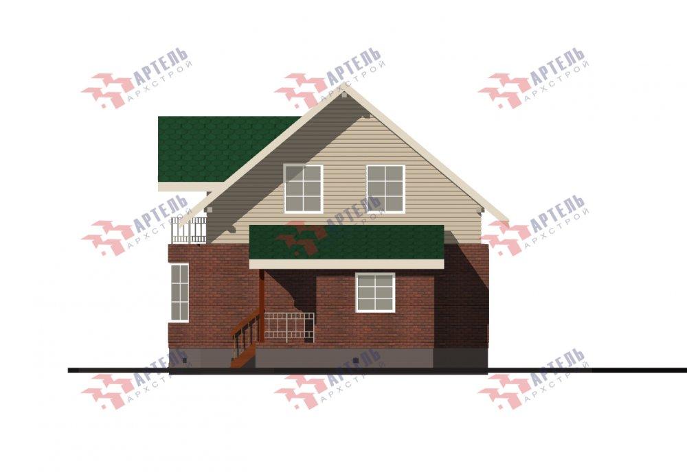 двухэтажный дом омбинированные дома площадью от 150 до 200 кв. м., проект Вариант 12.8В Комбинированный фотография 5322