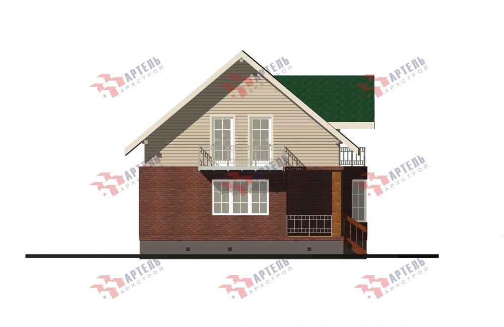 двухэтажный дом омбинированные дома площадью от 150 до 200 кв. м., проект Вариант 12.8В Камень и Комбинированный фотография 5324