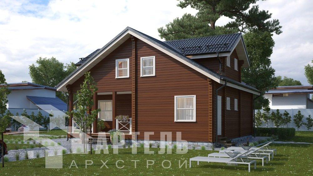 двухэтажный дом из профилированного бруса площадью от 150 до 200 кв. м., проект Вариант 10В-Н фотография 5025