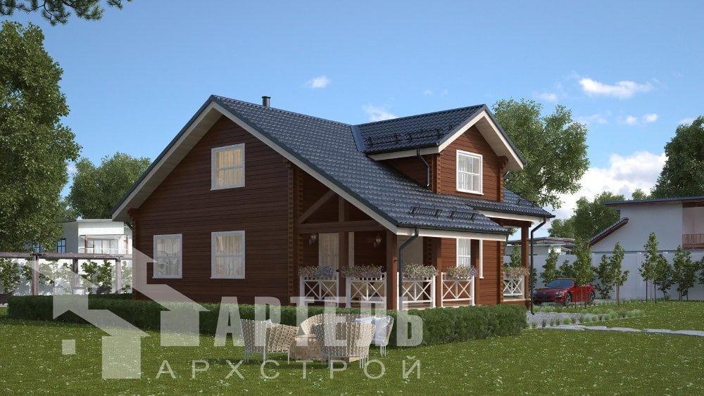 двухэтажный дом из профилированного бруса площадью от 150 до 200 кв. м., проект Вариант 10В-Н фотография 5027