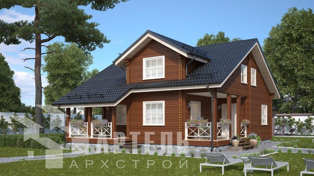 двухэтажный дом из профилированного бруса площадью от 150 до 200 кв. м., проект Вариант 10В-Н фотография 5029