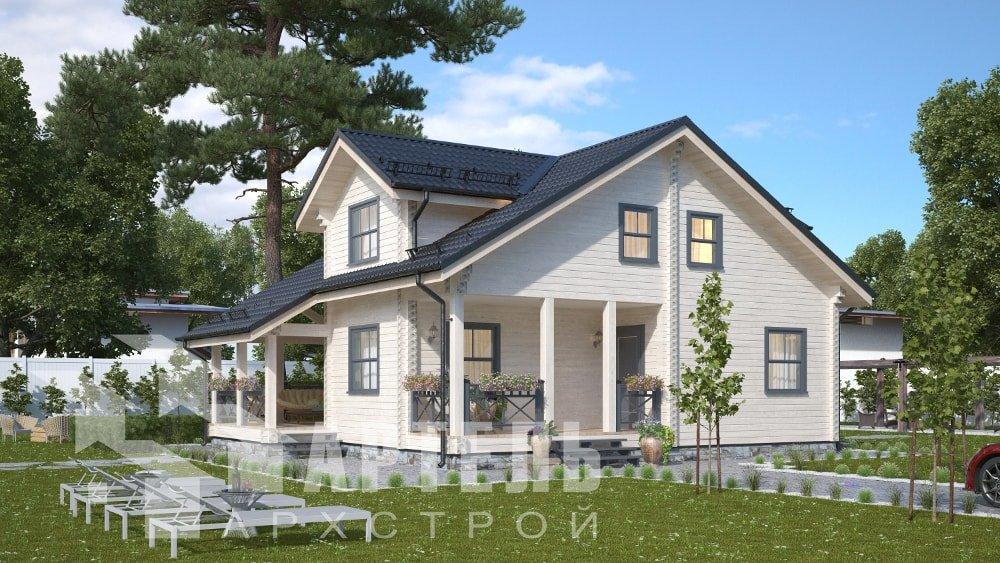 двухэтажный дом из профилированного бруса площадью от 150 до 200 кв. м., проект Вариант 10В-Н фотография 5030