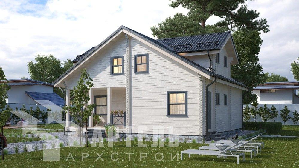 двухэтажный дом из профилированного бруса площадью от 150 до 200 кв. м., проект Вариант 10В-Н фотография 5031