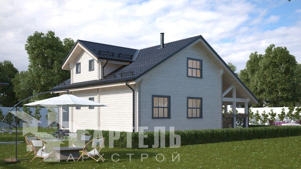 двухэтажный дом из профилированного бруса площадью от 150 до 200 кв. м., проект Вариант 10В-Н фотография 5032