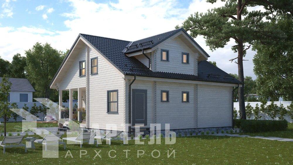 двухэтажный дом из профилированного бруса площадью от 150 до 200 кв. м., проект Вариант 10В-Н фотография 5034