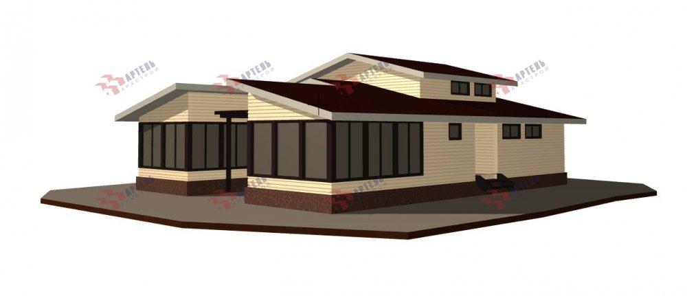 одноэтажный дом из профилированного бруса площадью свыше 200 кв. м., проект Вариант 12.4Л-Н фотография 5010