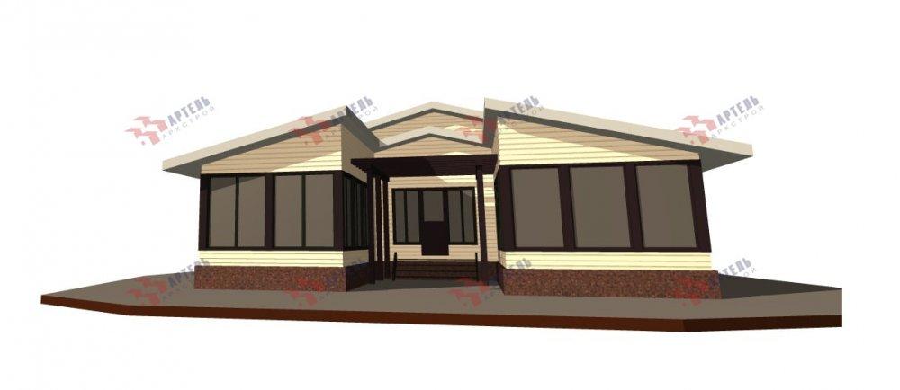 одноэтажный дом из профилированного бруса площадью свыше 200 кв. м., проект Вариант 12.4Л-Н фотография 5011