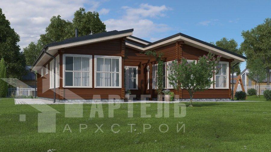 одноэтажный дом из профилированного бруса площадью свыше 200 кв. м., проект Вариант 12.4Л-Н фотография 5012