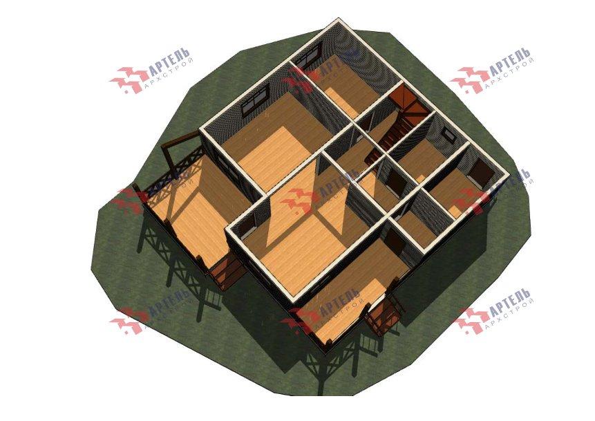 двухэтажный дом из профилированного бруса площадью от 150 до 200 кв. м., проект Вариант 10В-Н фотография 5017