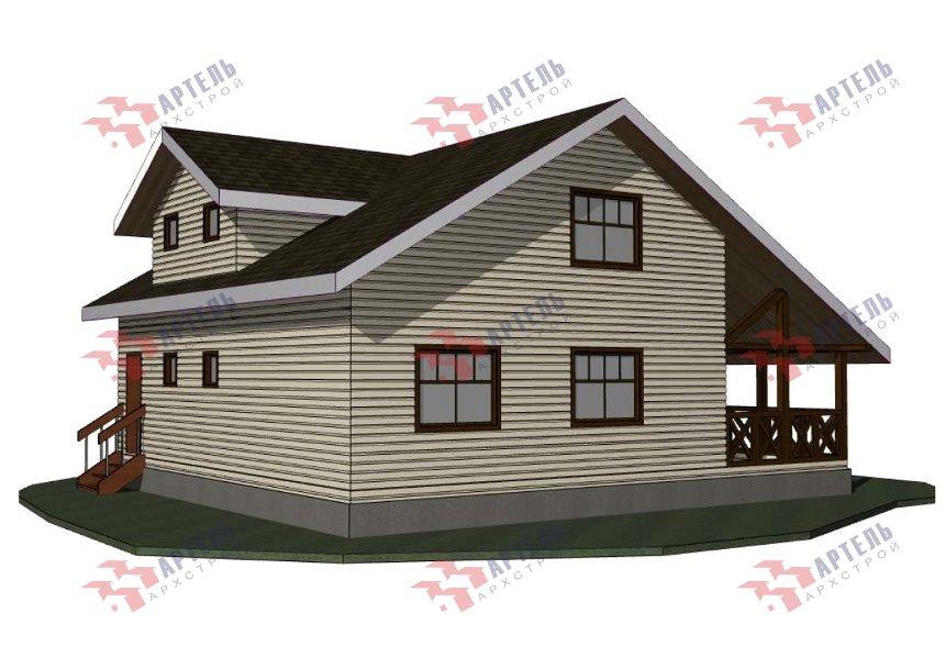 двухэтажный дом из профилированного бруса площадью от 150 до 200 кв. м., проект Вариант 10В-Н фотография 5019