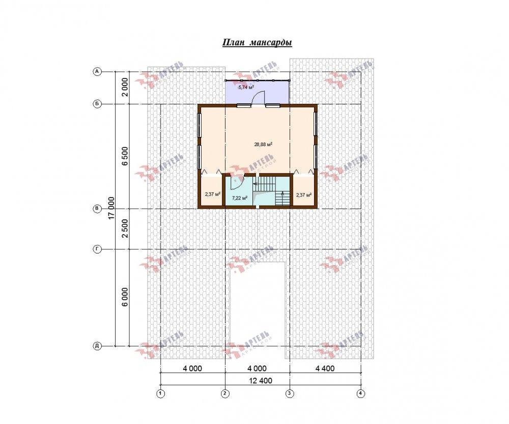 одноэтажный дом из профилированного бруса площадью свыше 200 кв. м., проект Вариант 12.4Л-Н фотография 5005