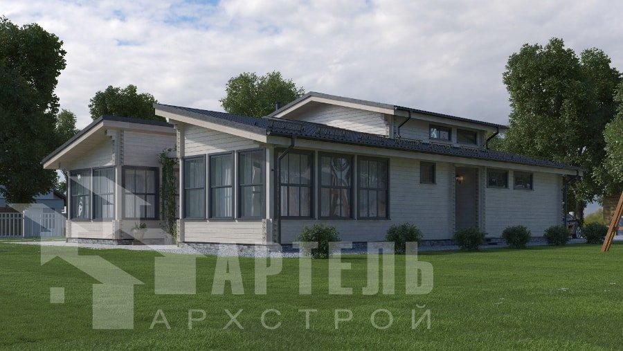 одноэтажный дом из профилированного бруса площадью свыше 200 кв. м., проект Вариант 12.4Л-Н фотография 5006