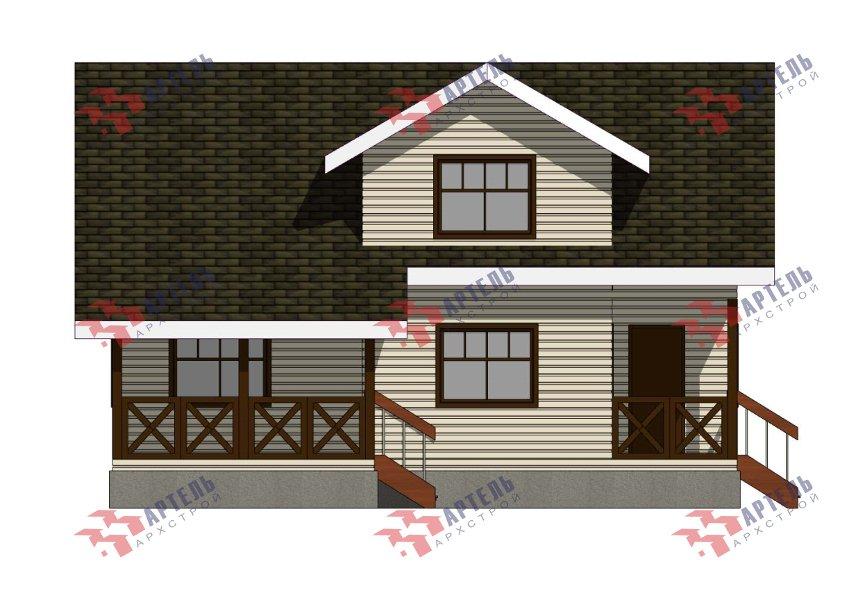 двухэтажный дом из профилированного бруса площадью от 150 до 200 кв. м., проект Вариант 10В-Н фотография 5023