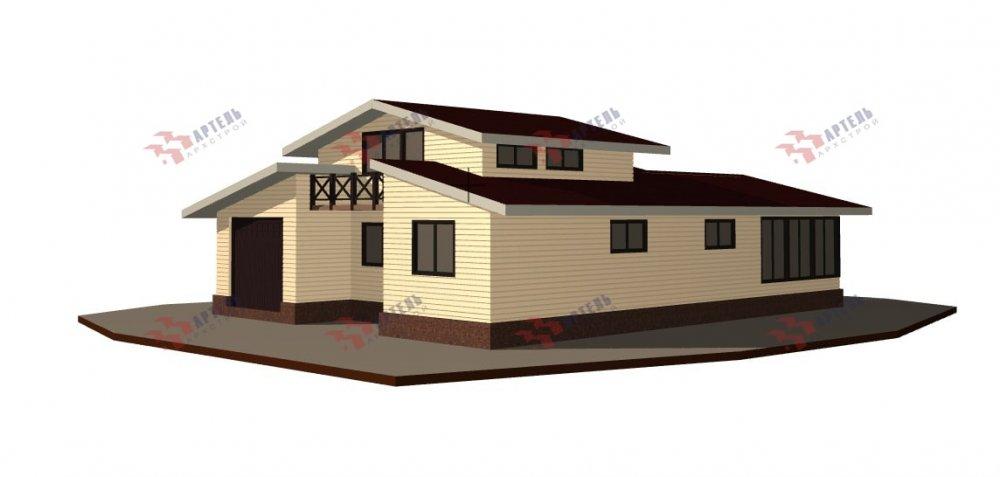 одноэтажный дом из профилированного бруса площадью свыше 200 кв. м., проект Вариант 12.4Л-Н фотография 5007