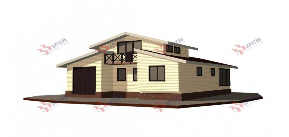 одноэтажный дом из профилированного бруса площадью свыше 200 кв. м., проект Вариант 12.4Л-Н фотография 5008