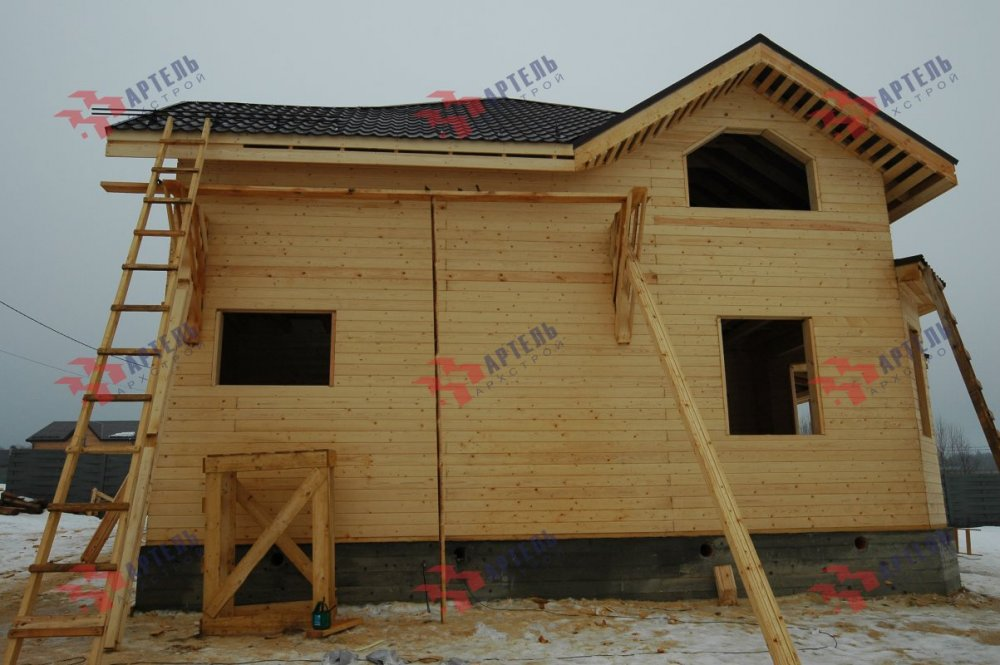 дом из профилированного бруса построенный по проекту Вариант 9.3В фотография 5123