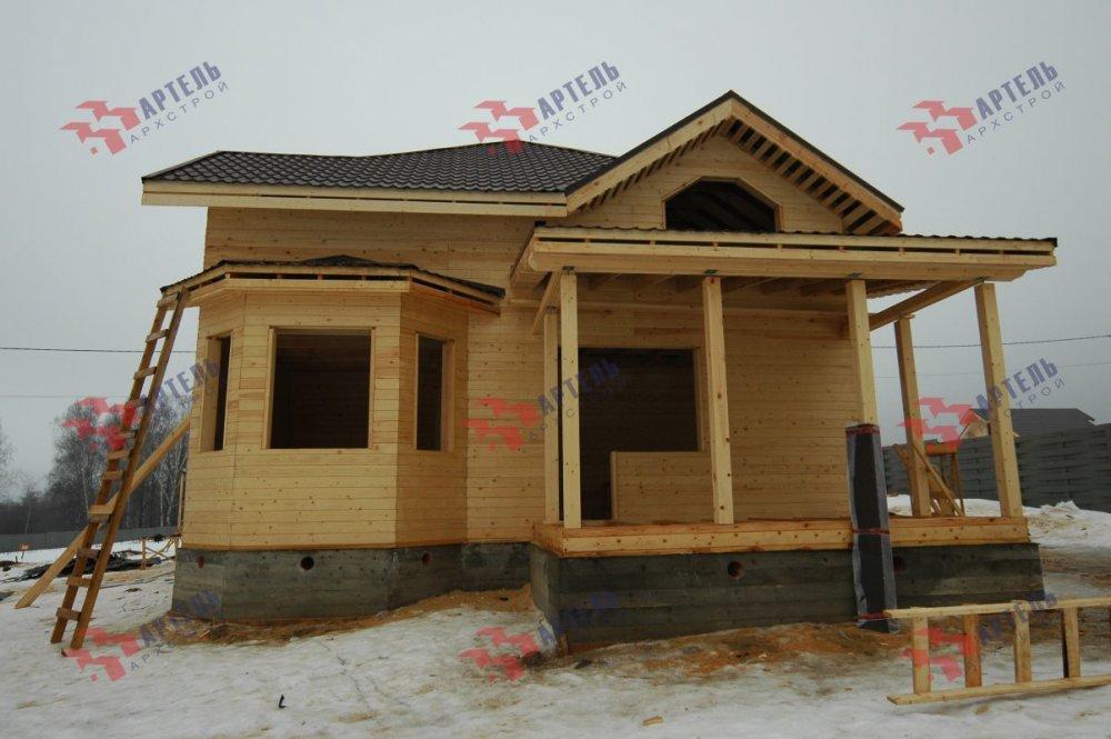 дом из профилированного бруса построенный по проекту Вариант 9.3В фотография 5118