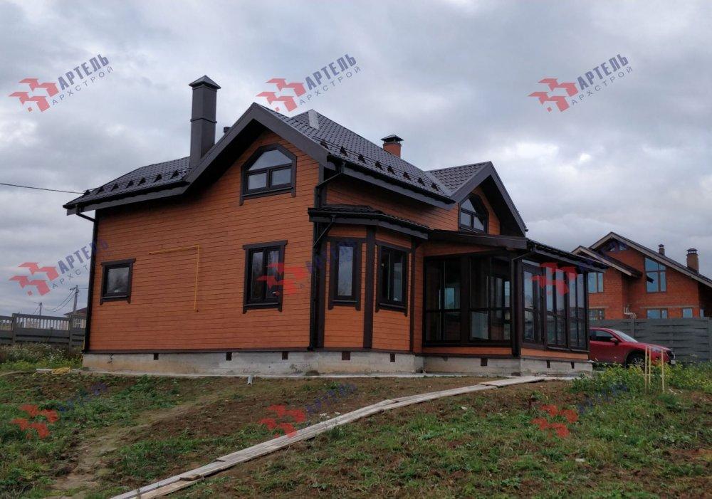 дом из профилированного бруса построенный по проекту Вариант 9.3В фотография 5117