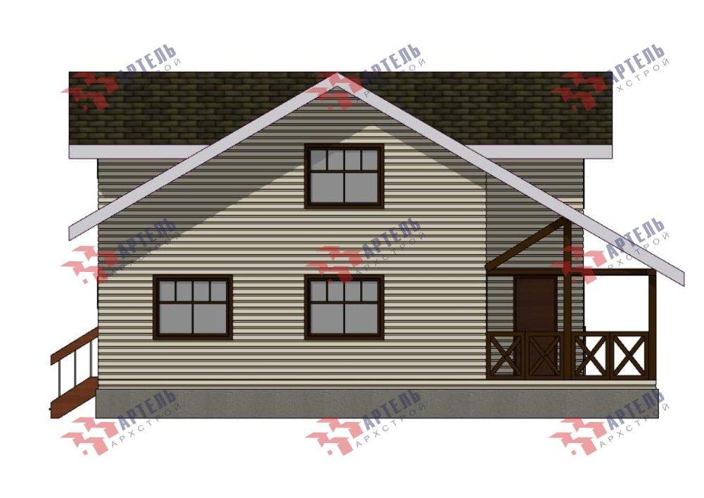 двухэтажный дом из профилированного бруса площадью от 150 до 200 кв. м., проект Вариант 10В-Н фотография 5036