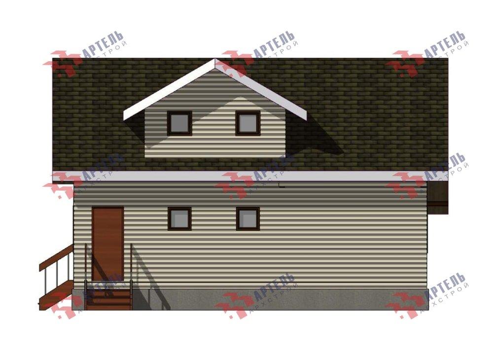 двухэтажный дом из профилированного бруса площадью от 150 до 200 кв. м., проект Вариант 10В-Н фотография 5037