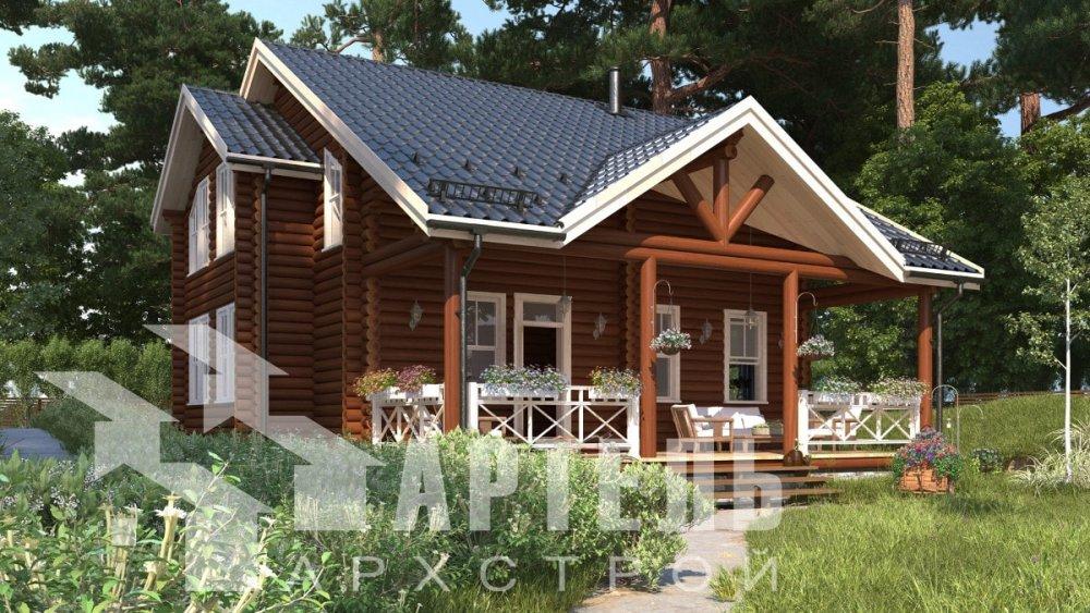 двухэтажный дом из профилированного бруса площадью от 100 до 150 кв. м., проект Вариант 8,4Б фотография 5059