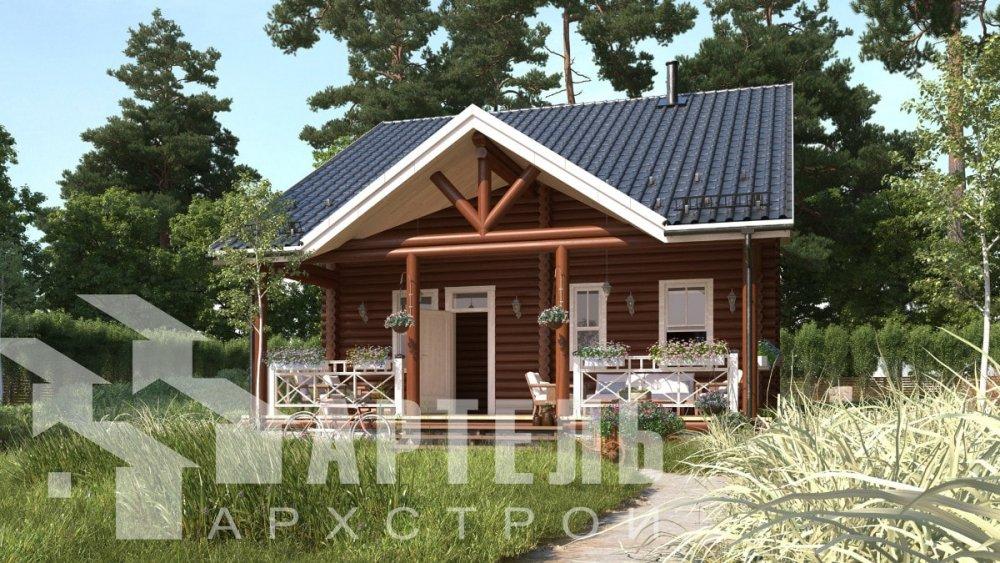 двухэтажный дом из профилированного бруса площадью от 100 до 150 кв. м., проект Вариант 8,4Б фотография 5060