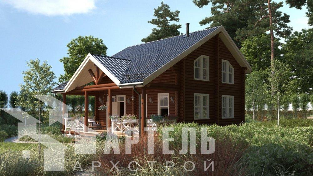 двухэтажный дом из профилированного бруса площадью от 100 до 150 кв. м., проект Вариант 8,4Б фотография 5061